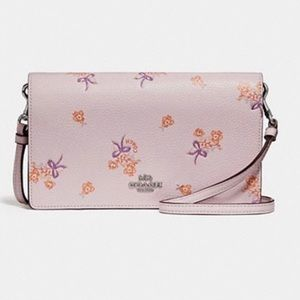 🌸 Coach Floral Wallet Crossbody Bag